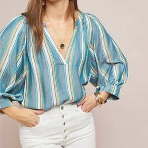 Anthropologie Maeve Byron striped blouse